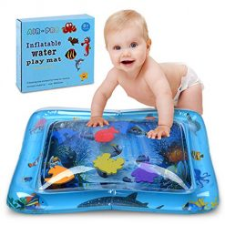 Baby Inflatable Tummy Time Water Mat, Fun Water Mat Activity Center for Infants&Toddlers,Premium Safety LeakProof Water Filled Playmat,Promotes Visual Stimulation,Movement & Motor Skills