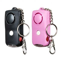 SOS Personal Alarm Keychain 130dB (2 Pack), Personal Security Alarm Keychain with LED Light, Self Defense Security Sirens Button Activated Emergency Safety Alarm for Women, Men, Children, Elderly