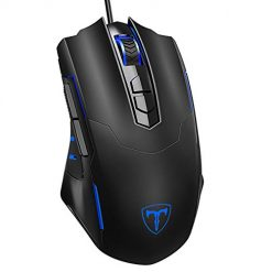 Gamingmouse, PICTEK Gaming Mouse Wired [7200 DPI] [Programmable] [Breathing Light] Ergonomic Game USB Computer Mice RGB Gamer Desktop Laptop PC Gaming Mouse, 7 Buttons for Windows 7/8/10/XP Vista Linux, Black