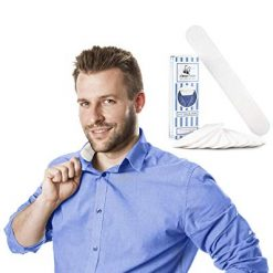 Collar Liners, Dress Shirt Collar and Hat Protectors: Disposable Adhesive Cotton Insert Liners for Collars, Sleeve Cuffs and Hats to Prevent Sweat Stains and Ring Around Neck- 9.25 x 1.5 inches - 10 Tape Strips