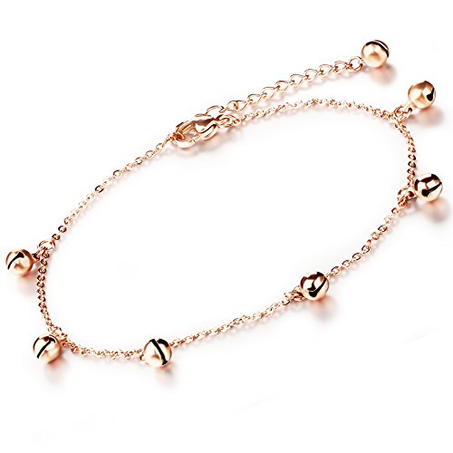 Marrymi Rose Gold Plated Anklets for Women Bell Fashion Jewelry Sets Jewelry Accessories