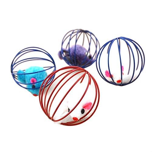 Bulges Scratch Ball Simulate Mouse Cat Kitten Dog Pet Interactive Toys Game