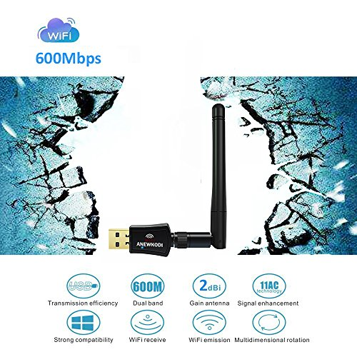 Anewkodi Wifi Driver Download, ANEWKODI 600Mbps USB WiFi Adapter USB Wireless Adapter Dual Band 2.4GHz/5GHz 433Mbps 802.11 ac/a/b/g/n Wireless Adapter for Desktop/Laptop/PC, Support Windows 10/8/7/Vista/XP/2000/Mac Os