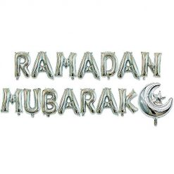 Labyrinen Ramadan Eid Mubarak Balloons, Eid Mubarak Banner with Moon & Star Decor Ramadan Eid Party Decorations Islamic Muslim Party Decorations Supplies, 16inch