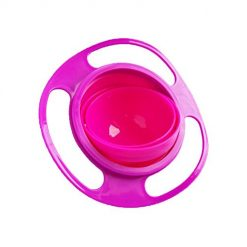 Baorin Portable 360 Rotation Baby Kids Infant Training Feeding Bowls No Spill Gyro Bowls Dinnerware