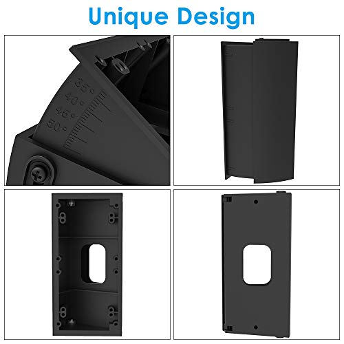 Adjustable Angle mounting Plate, CAVN Adjustable (30 to 55 Degree) Angle Mount Compatible Ring Wi-Fi Enable Doorbell/Ring Video Doorbell 2, Replacement Angle Adjustment Adapter Mounting Plate Bracket Wedge Corner Kit (Black)