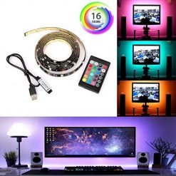 Edited Computer Television Background Lights 24 Keys Remote Controller LED Light Str Rope Lights
