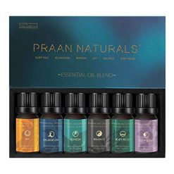 Aromatherapy 100% Pure and Natural Essential Oil Blend Set of Top 6 for Diffuser, Balance, Sleep Easy, Body Relief, Relaxation, Joy, Refresh by PRAAN NATURALS