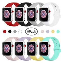 BMBEAR Sport Bands Compatible with Apple Watch 38mm 40mm Soft Silicone Band Replacement iWatch Strap for Apple Watch Series 4 Series 3 Series 2 Series 1 S/M