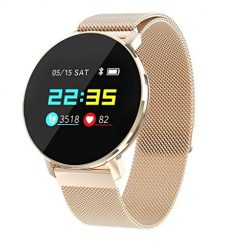 Best Smartwatches For Android, certainPL T5 Smart Watch Fitness Tracker with Heart Rate Monitor Blood Pressure Monitor, IP68 Waterproof Activity Tracker, Sports Smartwatch for Men & Women (Rose Gold)