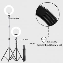 GVM Ring Light Ultra Slim-14 inch LED with Light Stand 3200K -5600K Lighting Kit for Makeup, Camera Smart Phone YouTube Video Shooting, Photography Lighting, Phone Holder, Hot Shoe Adapter, Receiver