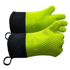 Mandii Unisex Double-Layer Anti-scalding Non-Slip Kitchen Gloves Oven Mitts Oven Mitts