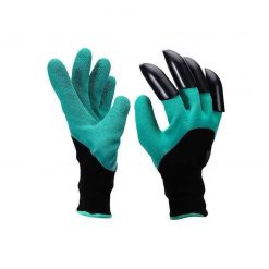 Mandii Unisex Garden Gloves with Fingertips Claws Digging Planting Gloves Safety Work Gloves