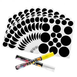 Chalkboard Labels Circles,162 Premium Reusable Chalkboard Stickers with Two Pieces 3MM Chalk Marker for Jars, Parties,Craft Rooms, Weddings and Organize Your Home and Kitchen