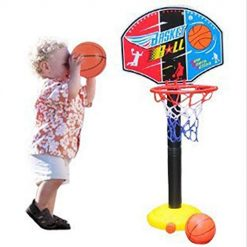 Fanala Portable Indoor Outdoor Kids Adjustable Height Basketball Stand Toy S Toy Basketball