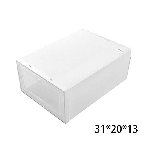 Pesters Moisture-Proof Thickening Transparent Shoe Box FILP Cover Type Free Standing Shoe Racks