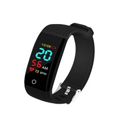 YENJO Touch Screen Smart Watch Heart Rate Monitor Pedometer Exercise Smart Bracelet