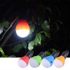 Erholi Portable Outdoor Camping LED Tent Light with Hook Emergency Lamp Lantern Flashlights
