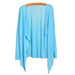 Asatr Women Casual Long Sleeve Ultra-Light Sun Protection Air Conditioner Cardigan Cover-Ups