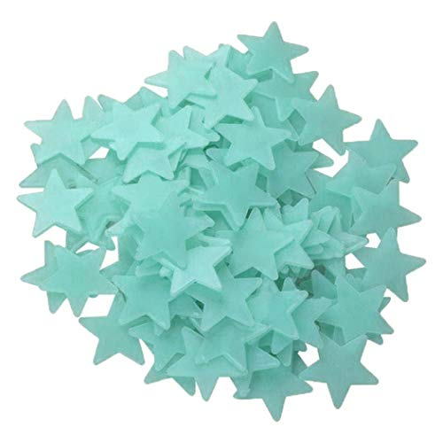 Ladiy Luminous Star Wall Stickers Glow in The Dark Fluorescent Patch Home Decor Wall Stickers With Coupon Code Amazon