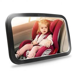 Baorin Baby Mirror for Car - Safety Car Seat Mirror for Rear Facing Infant with Wide Crystal Clear View Durable Practical Shatterproof Mirrors