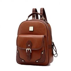 Lantusi Women Backpack Fashion Retro PU Leather Travel Bag Teenage Girl School Bag Backpacks