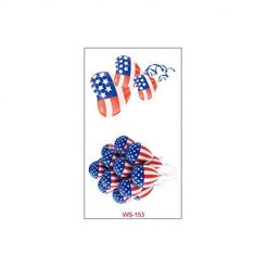 Caiuet Memorial Day Independence Day Red White and Blue Party Supplies Tattoo Sticker Gift Baskets