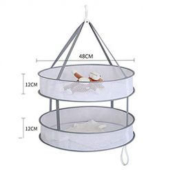 neneleo Windproof Multi-Function Clothes Net Foldable Flat Net Bag Drying Rack Clotheslines