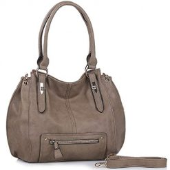 Women Handbags UTAKE Purse Shoulder PU Leather Hobo Crossbody Bag Grey