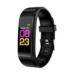 Ladiy Unisex Digital Display Buckle Closure Smart Bracelet Health Wristband Fitness Trackers
