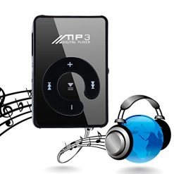 YENJO MP3 Player Compact and Portable Music Media Player With Fashion Clip SD TF Mirror MP3