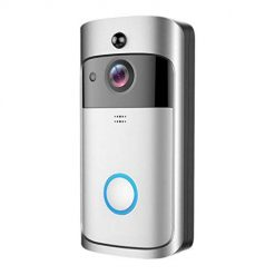 Caiuet Home Wireless Video Doorbell, Smart Video Doorbell, Wi-Fi Smart Video Doorbell, HD Security Camera with 166-Degree Wide Angle Lens Two-Way Audio Doorbell Remote Home Monitoring Systems