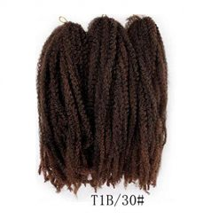 Erholi Synthetic Marley Braids Women Fashion Twist Crochet Braiding Wig Hair Extension Hair Extensions