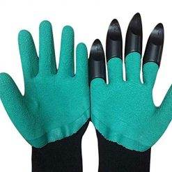 Onbay Unisex Garden Gloves with Fingertips Claws Digging Planting Gloves Gloves