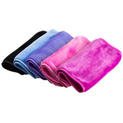 Nugilla Makeup Remover Cloth 5 Pack -,Reusable Microfiber Cleansing Towel,Suitable for All Skin Types,Move Makeup Instantly with Just Water,Multiple Colours