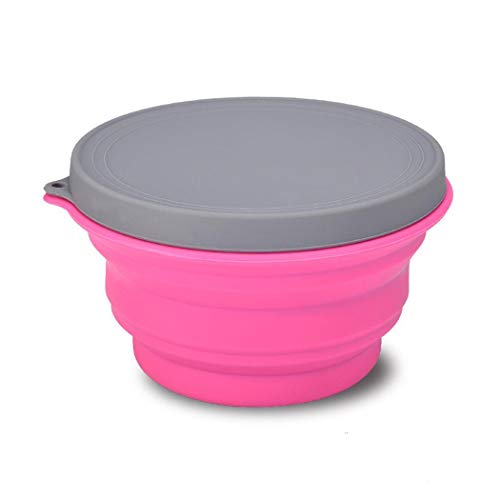 Adoeve Outdoor Portable Silicone Safe Picnic Trip Folding Bowl Cup Flatware