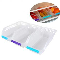 Pesters Refrigerator Food Beverage Hollow Drawer Storage Box Shelf Baskets
