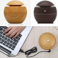 Ladiy USB Aroma Essential Oil Diffuser Ultrasonic Mist Humidifier Air Purifier Single Room Humidifiers With Coupon Code Amazon