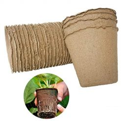 Foshin Garden Grow Pot Fiber Pulp Home Seedling Vegetable Fruit Plants Pot Cup Grow Bags