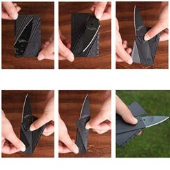 Idomeo Outdoor Camping Travel Folding Portable Credit Card Pocket Knife Tools Knives