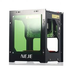 NEJE 1500mW Laser Engraver Printer Acrylic 550x550 Pixel USB Mini Engraving Machine CNC Router Cutting Carver Off-line Operation Engraved Printer for Wood Paper DIY Design