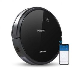 ECOVACS DEEBOT 601 Robotic Vacuum Cleaner with App Control, for Carpet & Optimized for Hard Floor, Max Mode, Quiet, Scheduling, Auto-Charging, Pet Friendly, Works with Amazon Alexa & Google Assistant