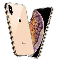 Meidom Case for iPhone Xs Max Crystal Clear Slim Fit with Silicone Bumper and Tempered Glass Back Double Protection Phone Case for iPhone Xs Max (6.5 inch) - Clear