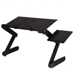 Legros8 Portable ErgonomicTV Bed Table Stand Laptop Desk Tray with Fan Home Office Desks
