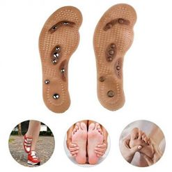 Asatr Men Women Magnet Therapy Massage Deodorant Silicone Insoles Shoes Pad Cushion Insoles