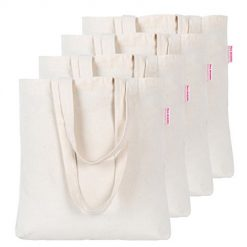 Dimayar 4 Pieces Resuable Cotton Canvas Tote Bag for Crafting and Decorating