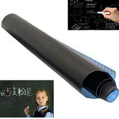YENJO PVC Black Adhesive Chalkboard Stickers Removable Graffiti Writing Board Poster Board