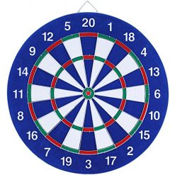 Histon Dartboard 18 Inch Dart Board Set with 6 Extra Darts for Steel Tip Soft Tip Darts