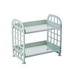 Erholi Multi-functional Double Layers Hollow Out Stand Rack Storage Shelves Tie Racks