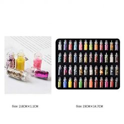 Asatr 48Colors Sequins Powder Stickers Nail Art Manicure DIY Nail Art Decorations Accessory Sets